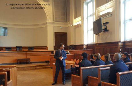 Visite des Terminales MS au Palais de Justice de Blois